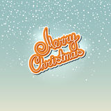 Winter Background with the Words Merry Christmas Stock Photography