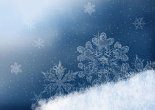 Winter background. For your own creations. Snowflakes on snow Stock Images