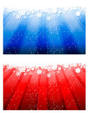 Winter Backgrounds. Red and blue Winter Backgrounds Royalty Free Stock Images
