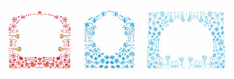 Winter backgrounds. With space for text Stock Images