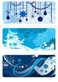 Winter backgrounds set Royalty Free Stock Image