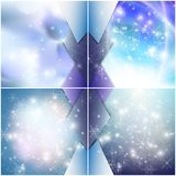 Winter backgrounds set with snowflakes. Abstract. Winter design and website template, abstract pattern vector Stock Photos