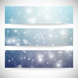 Winter backgrounds set with snowflakes. Abstract. Winter design and website templates, abstract pattern vector Royalty Free Stock Photo