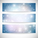Winter backgrounds set with snowflakes. Abstract. Winter design and website templates, abstract pattern vector Stock Photography