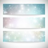 Winter backgrounds set with snowflakes. Abstract. Winter design and website templates, abstract pattern vector Stock Photos