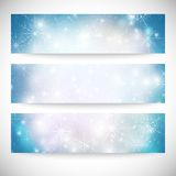 Winter backgrounds set with snowflakes. Abstract. Winter design and website templates, abstract pattern vector Royalty Free Stock Image