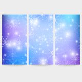 Winter backgrounds set with snowflakes. Abstract. Winter design and website templates, abstract pattern vector Stock Image