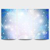 Winter backgrounds set with snowflakes. Abstract Royalty Free Stock Images