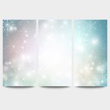 Winter backgrounds set with snowflakes. Abstract Royalty Free Stock Photo