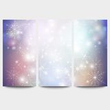 Winter backgrounds set with snowflakes. Abstract Stock Image