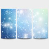 Winter backgrounds set with snowflakes. Abstract. Winter design and website templates, abstract pattern vector Royalty Free Stock Photography