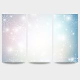 Winter backgrounds set with snowflakes. Abstract Stock Images