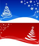 Winter backgrounds. [Vector]. Two beautiful winter backgrounds. Vector illustration Royalty Free Stock Photo