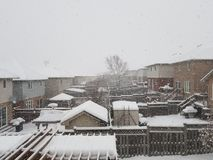 Winter Backyards Royalty Free Stock Photos