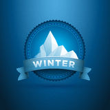 Winter badge Royalty Free Stock Photos