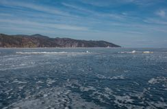 Winter Baikal. ice bound Baikal. boundless distance. Royalty Free Stock Images