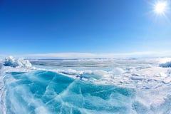Winter Baikal lake Royalty Free Stock Photos