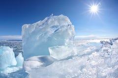 Winter Baikal lake Royalty Free Stock Photo