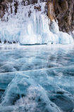 Winter Baikal lake Stock Photo