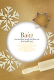 Winter baking background Stock Images