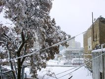 Winter in Baku, alte Stadt Stockbilder