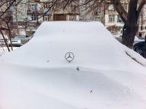 Winter in Baku, big snowdrifts Stock Image