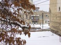 Winter in Baku citu Royalty Free Stock Photo