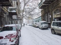 Winter in Baku Stock Photography