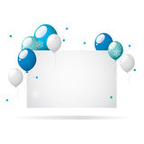 Winter balloons with place for text. Bitmap picture with an additional vector file Royalty Free Stock Photos