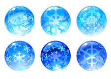 Winter balls Stock Images