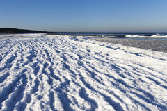 Winter at Baltic coast. Stock Images
