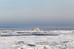 Winter in Baltic sea. Royalty Free Stock Photos