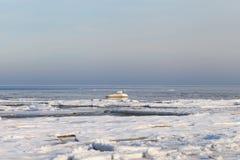 Winter in Baltic sea. Royalty Free Stock Photos