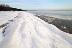 Winter in Baltic sea. Stock Photography