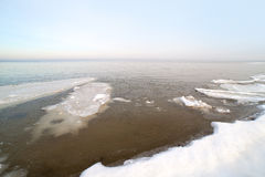 Winter in Baltic sea. Stock Images