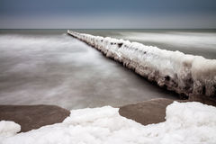 Winter on the Baltic Sea Stock Photo