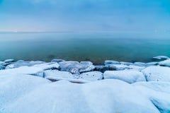 Winter Baltic sea. Coast in Tallinn stock photos