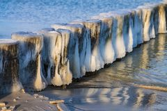 Winter on the Baltic Sea coast in Zingst, Germany Stock Images