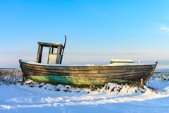 Winter on the Baltic Sea coast in Zingst, Germany Royalty Free Stock Images