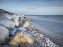 Winter on the Baltic sea Royalty Free Stock Photo