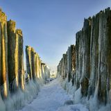 Winter on the Baltic sea, EU Royalty Free Stock Photography