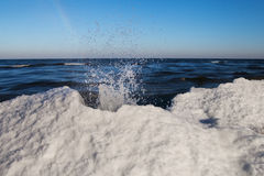 Winter at Baltic sea. Stock Images