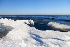 Winter at Baltic sea. Royalty Free Stock Photo