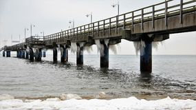 Winter on baltic sea Stock Photography