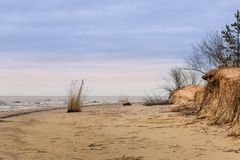 Winter at Baltic Sea in Riga. Latvia Stock Images