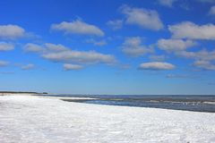 Winter at the Baltic Sea Royalty Free Stock Photo