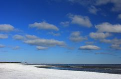 Winter on the Baltic Sea Stock Photography