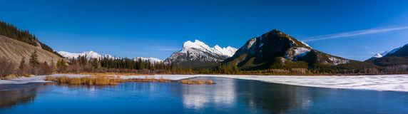 Winter in Banff National Park royalty free stock photo