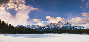 Winter in Banff National Park Royalty Free Stock Images