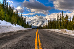 Winter in Banff National Park Stock Photo